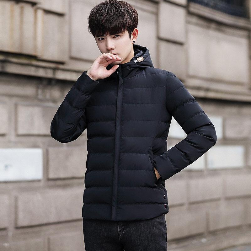 2018外贸男士棉衣外套冬季保暖青年棉衣男连帽加厚男装羽绒服