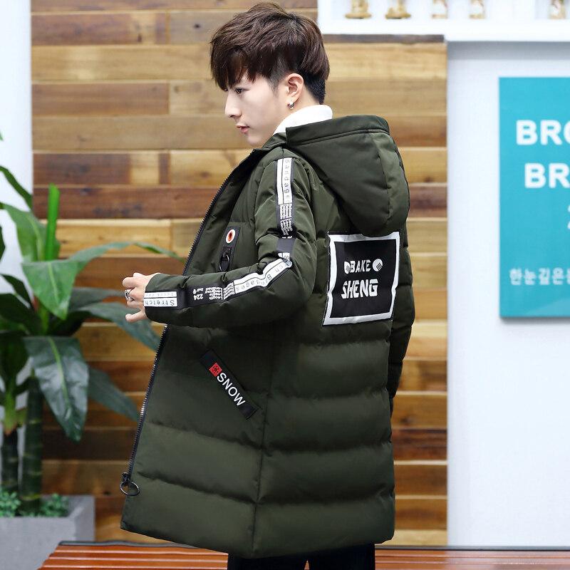 外套男2018新款冬季中长款男士棉衣韩版潮流帅气羽绒棉服加厚