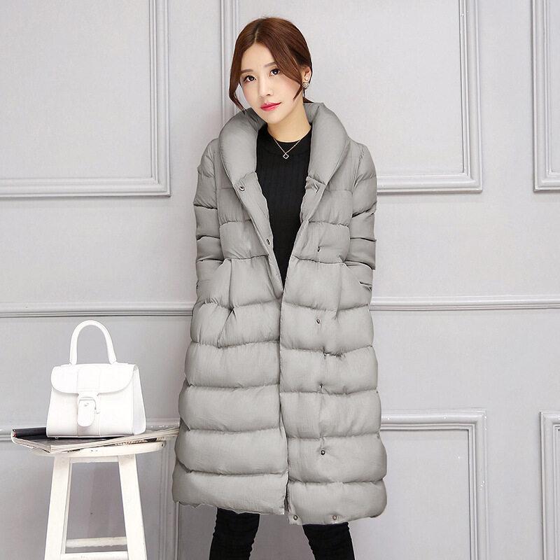 女秋冬棉衣服2018冬季新款女款中长羽绒棉服外套韩版大码学生棉衣