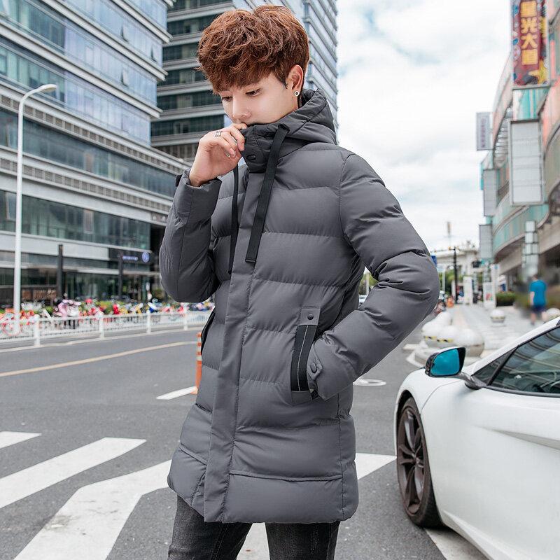 男士外套冬季2018新款韩版潮流帅气个性加绒加厚羽绒棉服棉