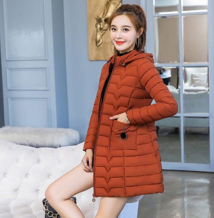 中老年棉服2018冬季新款棉衣女韩版轻薄大衣羽绒棉服女外套