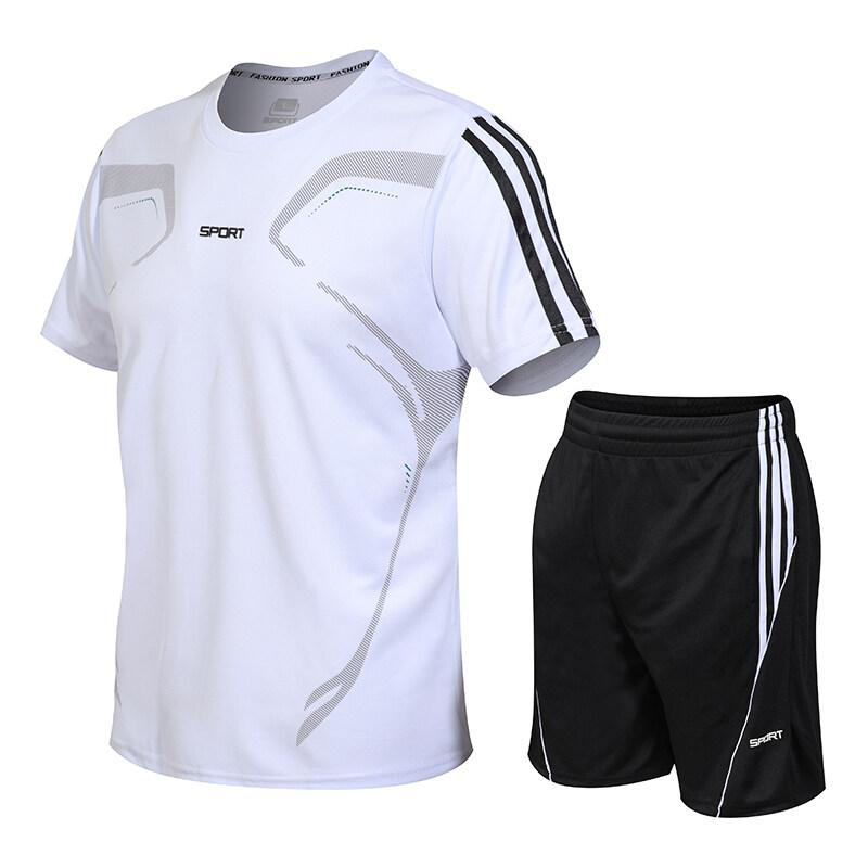 902运动套装男夏季健身短袖T恤男士速干衣服跑步宽松休闲运动服大
