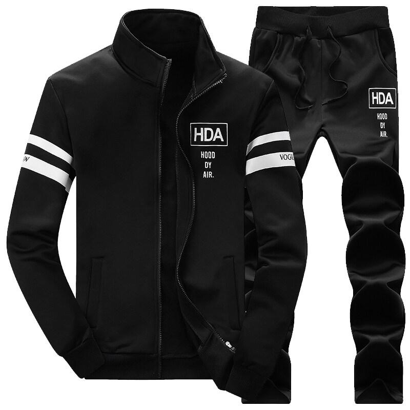秋季新款男士开衫运动休闲外套长袖套装