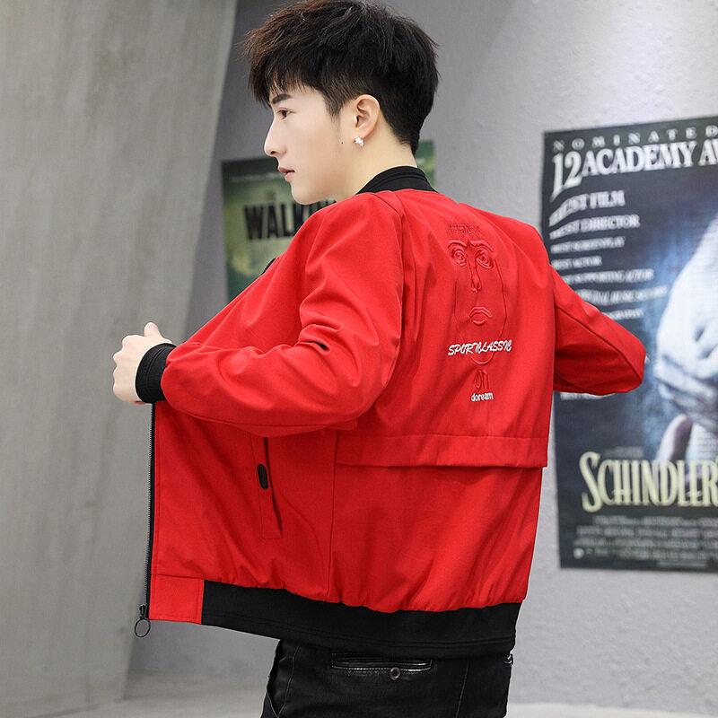 厂家直销2019春季新款夹克男士韩版潮流时尚修身男装外套大码男装