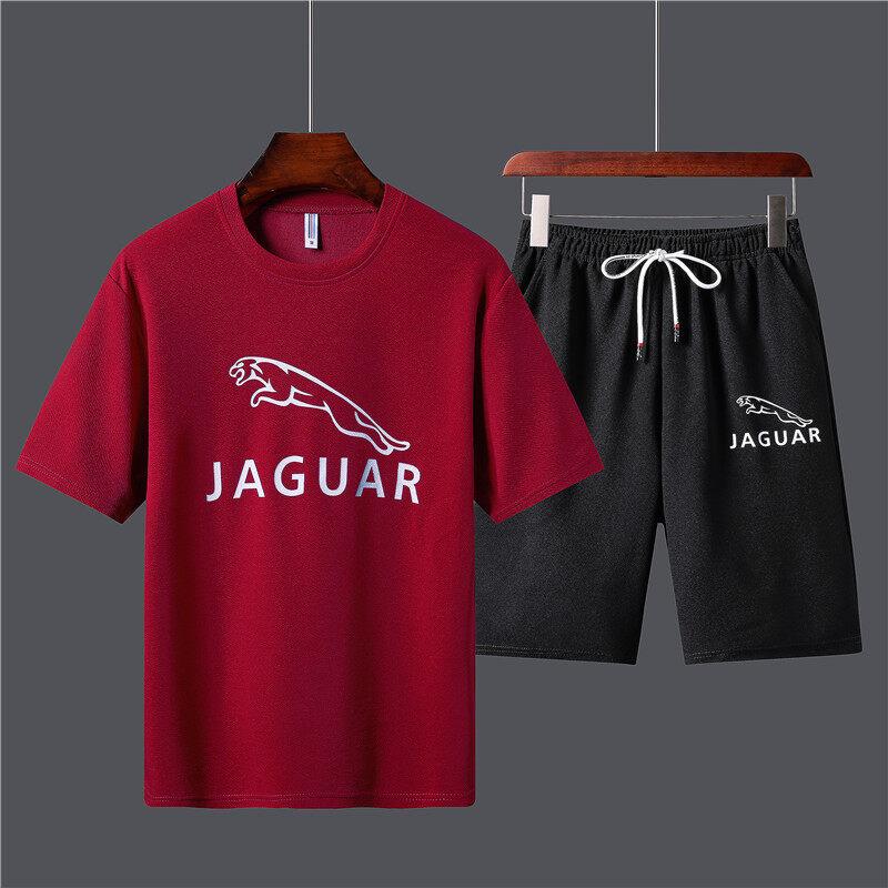 90182019新款休闲运动套装男夏季短袖短裤男士男装套装运动