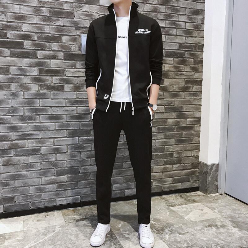 休闲运动套装男韩版潮流两件套春秋季卫衣外套学生帅气一套衣服