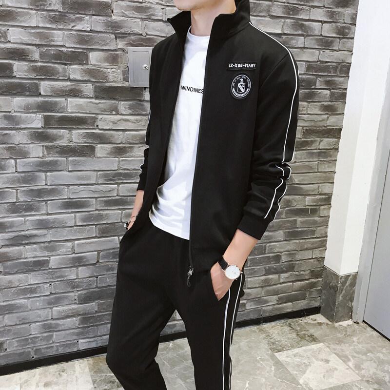 男士外套春秋2019新款韩版潮流休闲修身帅气一套衣服运动夹克