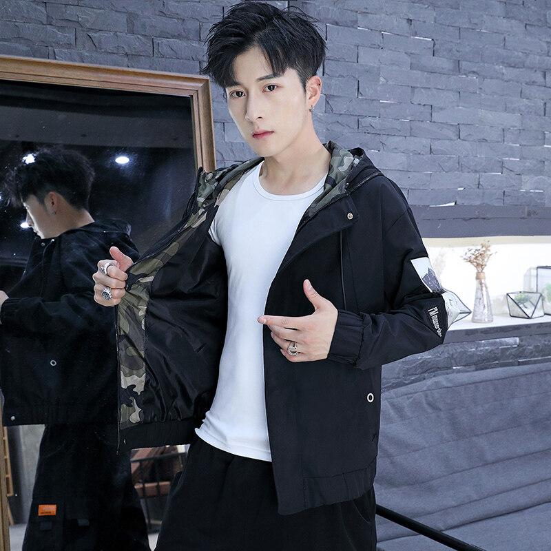 新款外套秋冬季韩版潮流新款工装夹克男修身帅气棒球