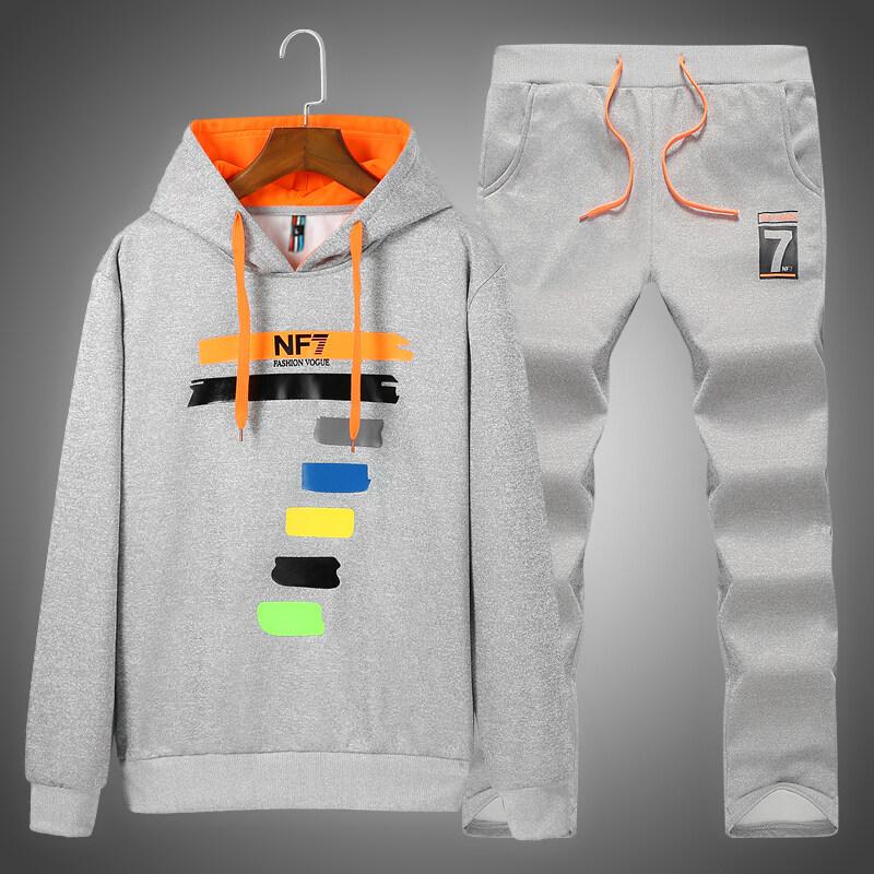 D772019秋季新款男士休闲运动套装青少年学生两件套男士外套潮