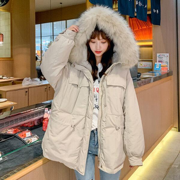 实拍新款羽绒服冬季棉服女韩版面包服女短款ins棉袄大码显瘦棉