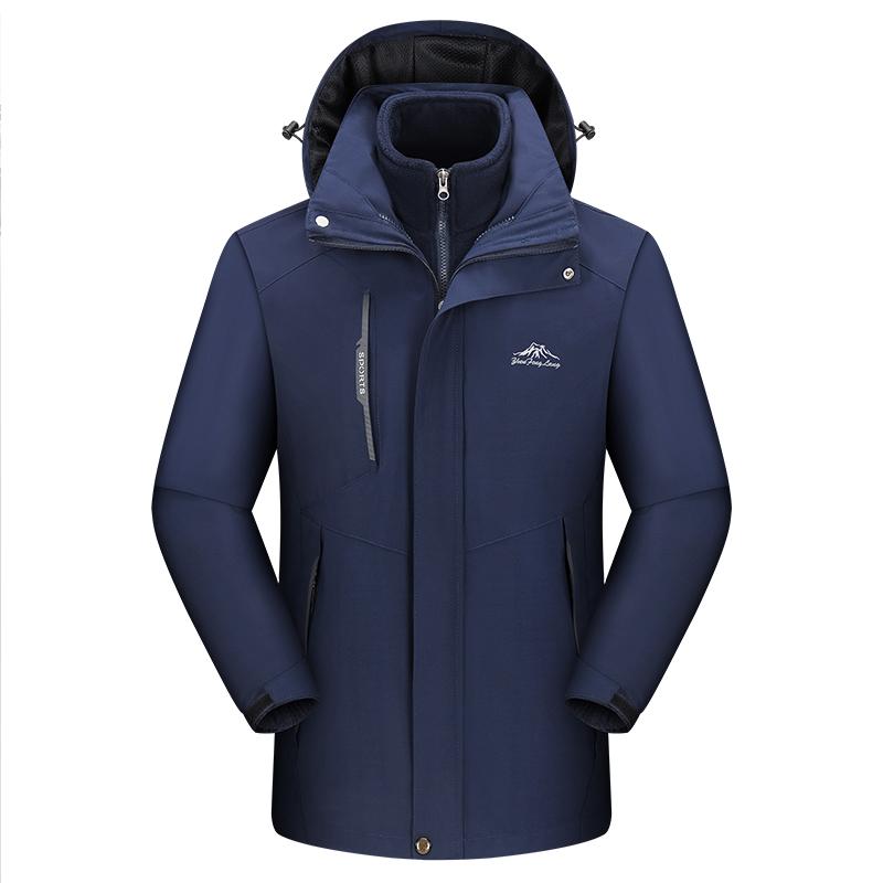 三合一冲锋衣男女秋冬季抓绒外套防水防风两件套户外可拆卸登山服