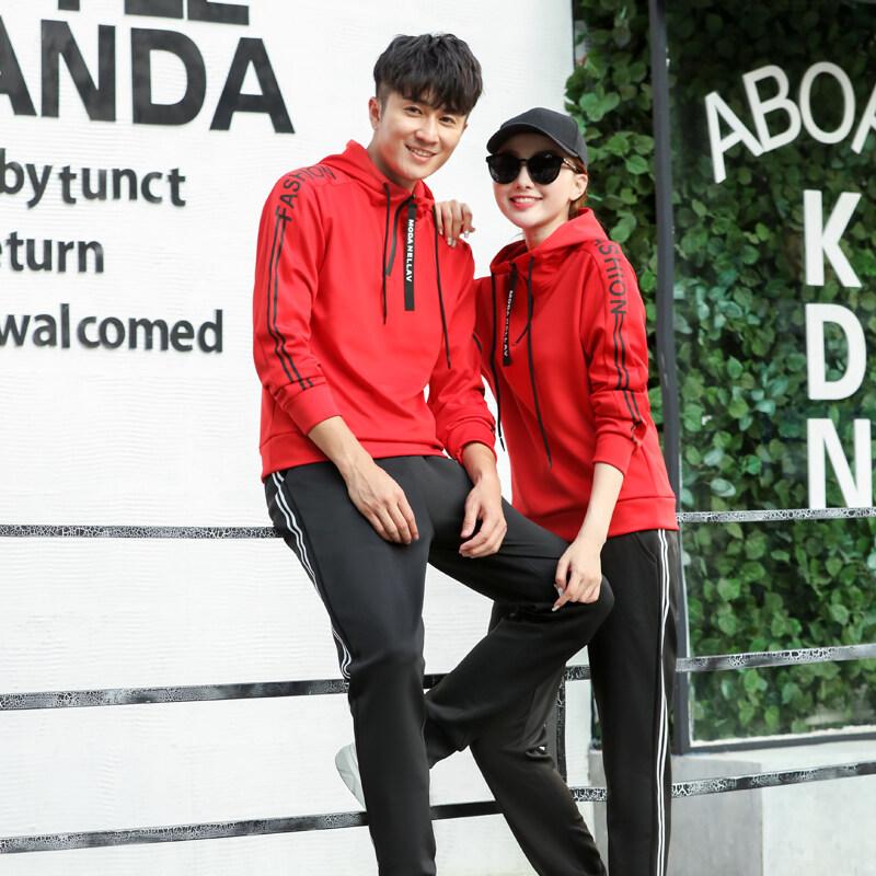 跨境2018新款秋季休闲运动套装男女侣套装青年韩版修身衣