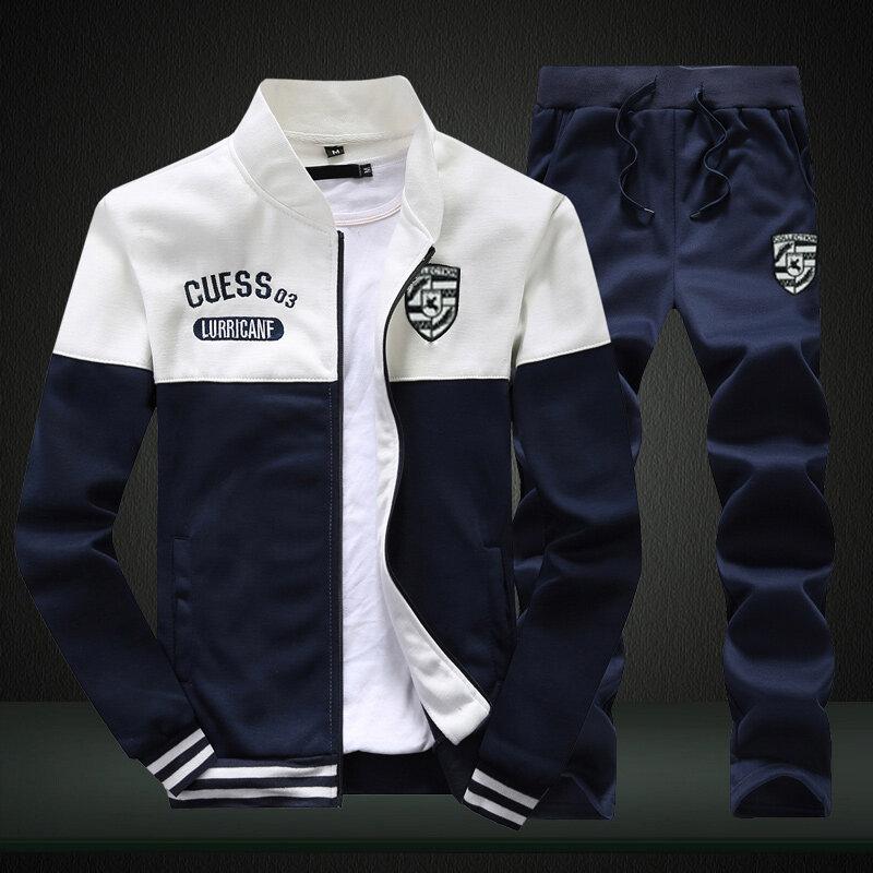 保时捷常规款跨境春秋季新款卫衣休闲运动套装拉链男士长袖外套裤子两件套男装