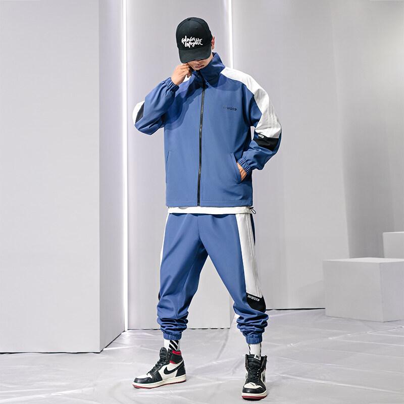夹克男套装韩版潮流帅气两件套2019春秋款新品男士外套青少年