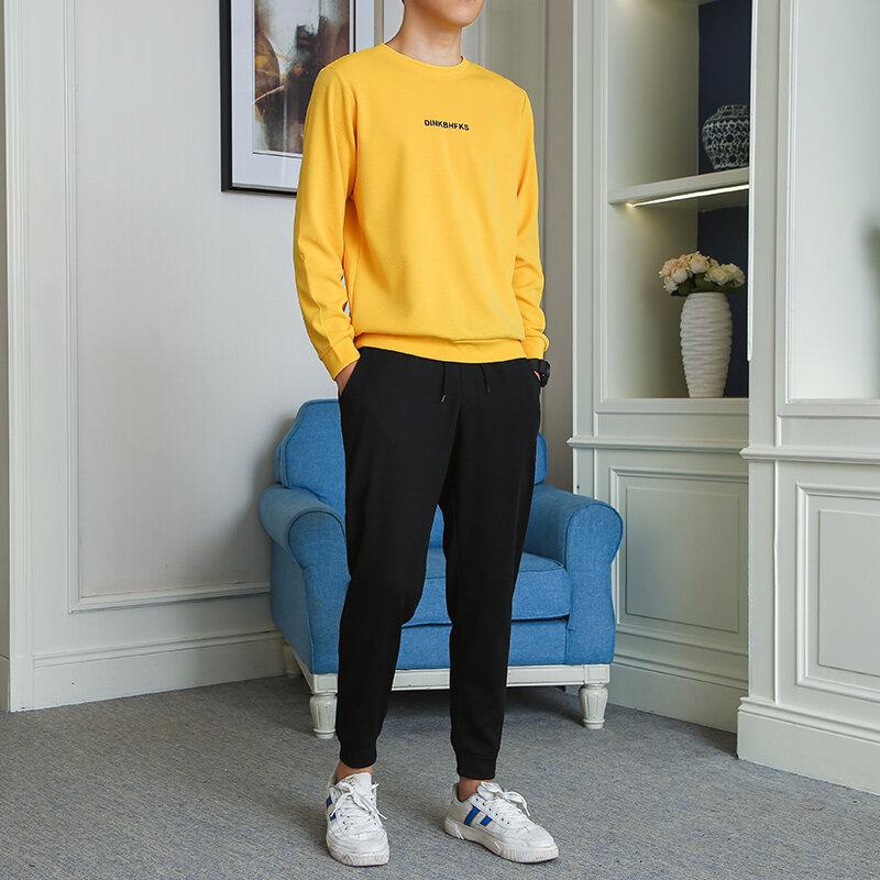 秋季男士休闲套装韩版潮流帅气运动套装原宿风时尚两件套