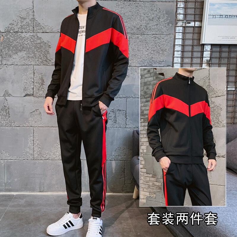 卫衣外套男装2019新款秋季运动套装韩版休闲运动服帅气一套