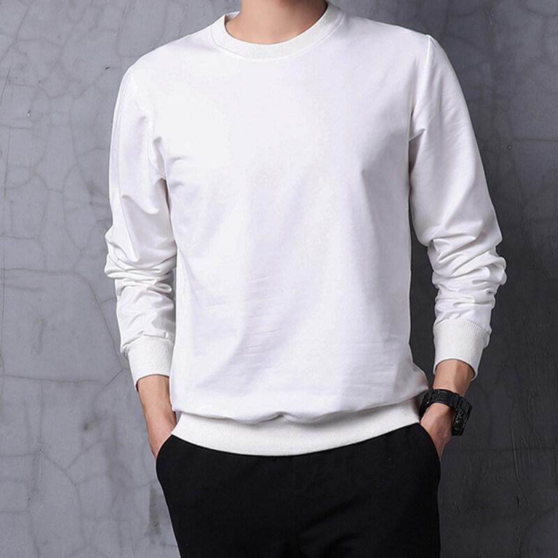 2019秋季新款男士卫衣休闲圆领上衣纯棉男装空版青年T恤 WY-9026