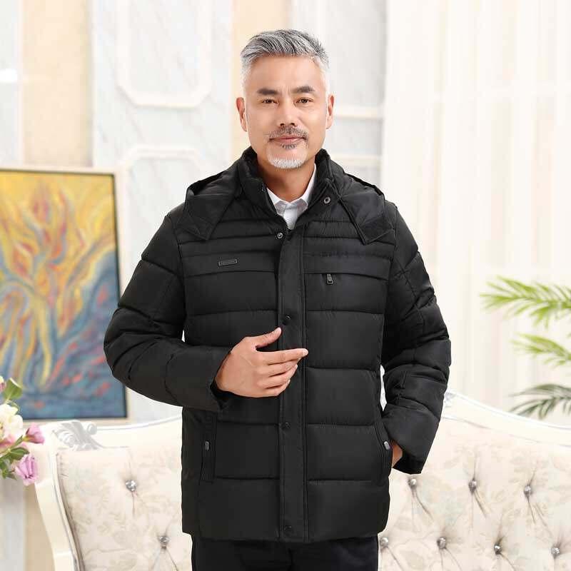 2019冬季新款中老年加厚高品质连帽棉衣棉服