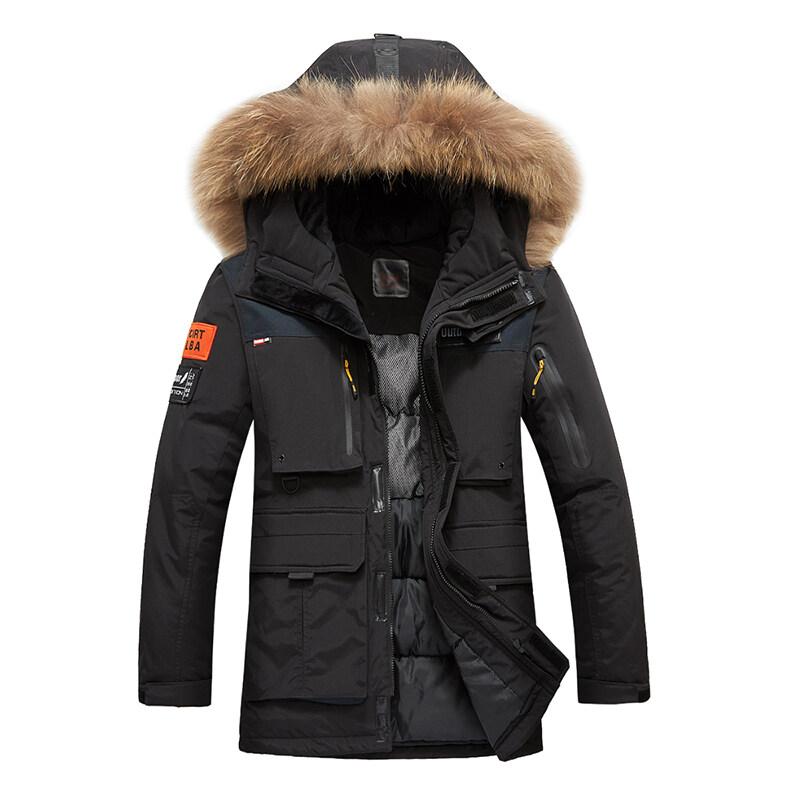中长款棉衣男士外套冬季2019新款加厚冬装男生棉袄潮短款工装
