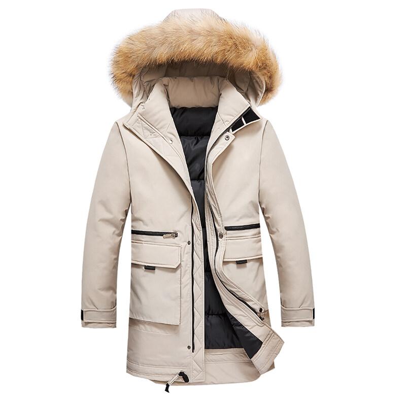 冬季外套男士韩版潮流加厚中长款棉衣男装学生宽松2019棉服长