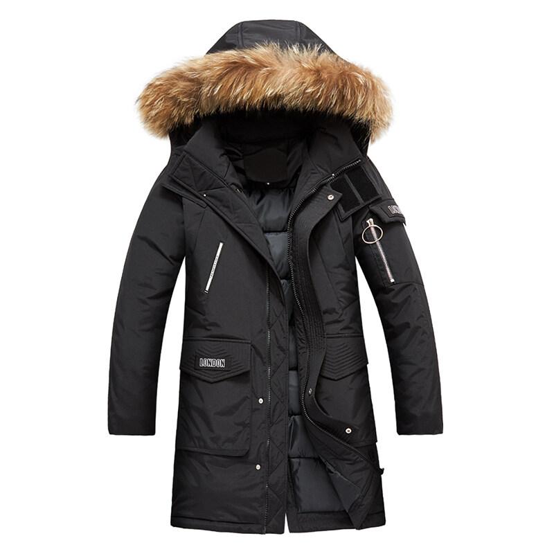 男士冬季外套2019年新款韩版潮流冬天中长款棉袄棉衣工装棉服