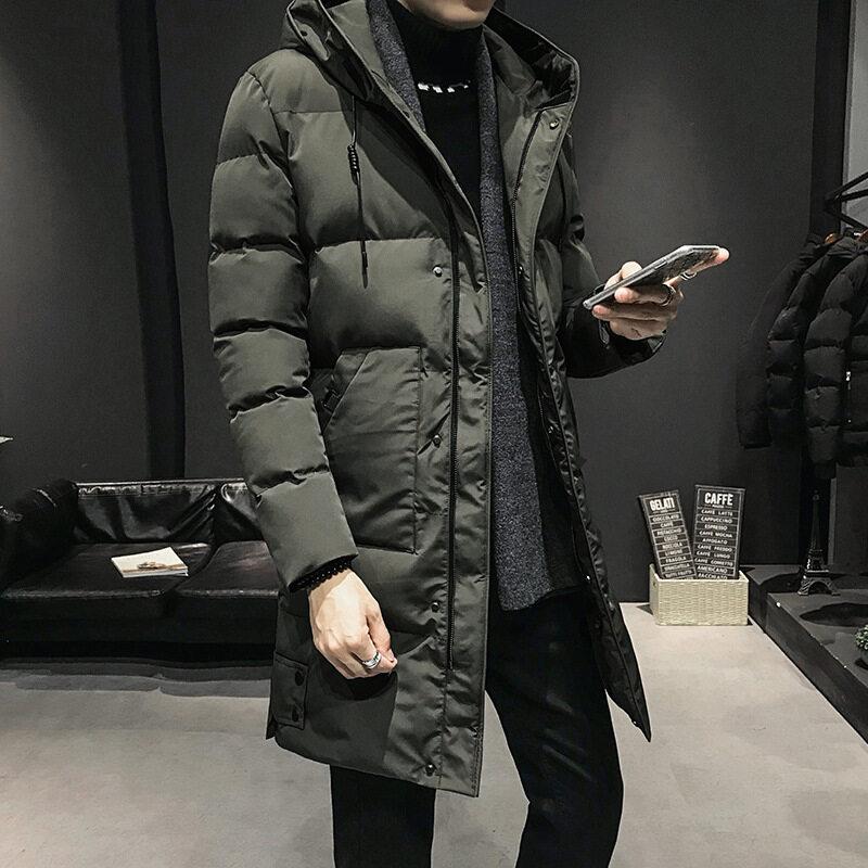 M009秋冬宽松青少年休闲棉袄冬棉衣男学生保暖连帽棉服外套
