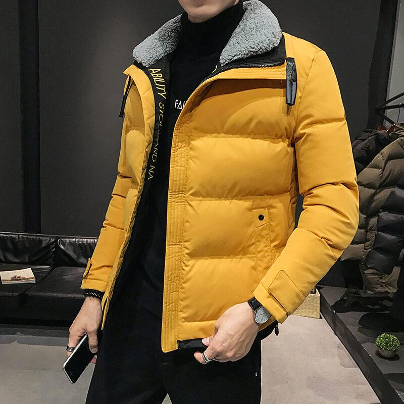 M011秋冬宽松青少年加厚棉袄冬棉衣男学生保暖连帽棉服外套