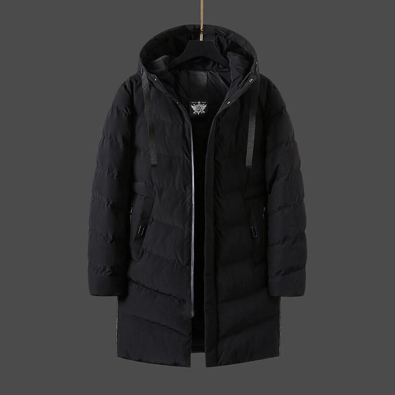 连帽中长款棉衣男2019冬季新款加厚保暖男士韩版修身青年外套