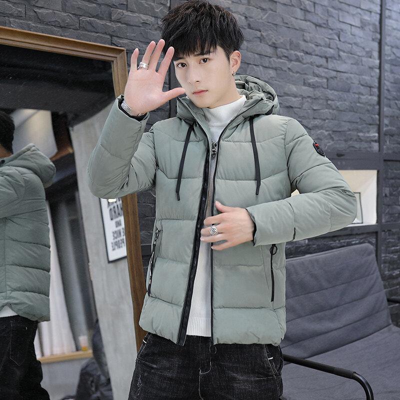 2019冬季新款韩版修身连帽棉衣,加厚保暖男士棉衣