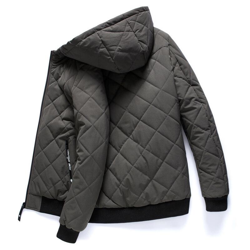 加绒保暖棉衣男士外套2019冬季新款韩版修身青年连帽休闲棉袄