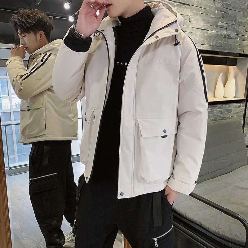 高品质公版冬季加厚连帽工装棉衣休闲面包服外套棉袄羽绒棉服男