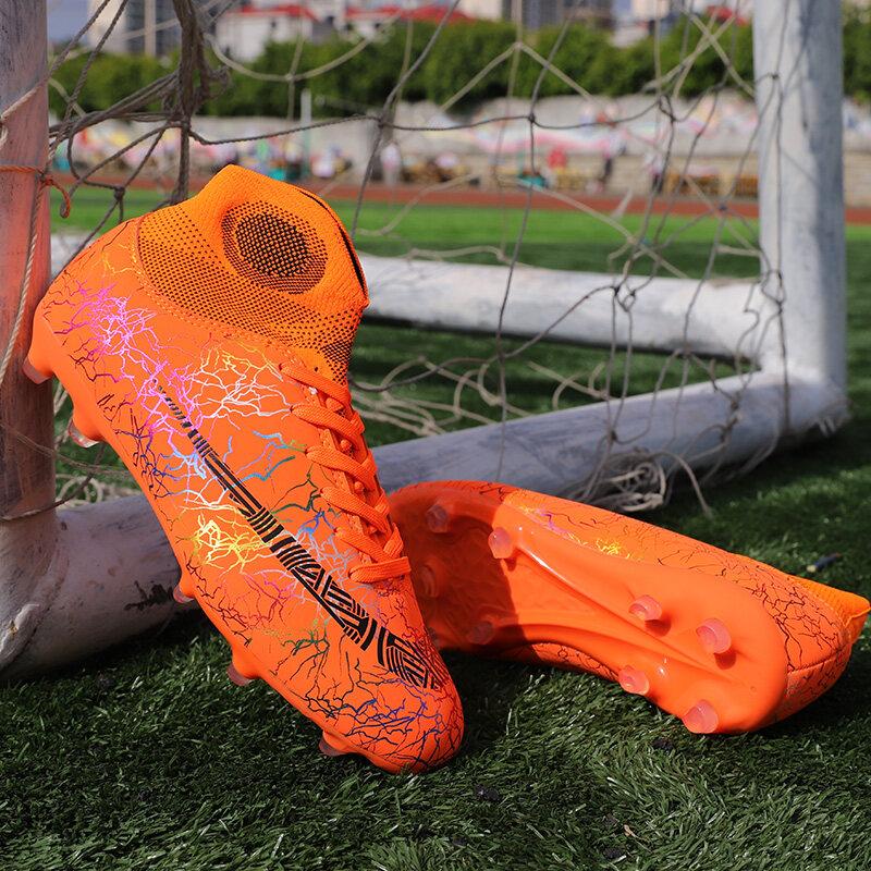 室外草地足球鞋工厂店整套图片视频加Q私发