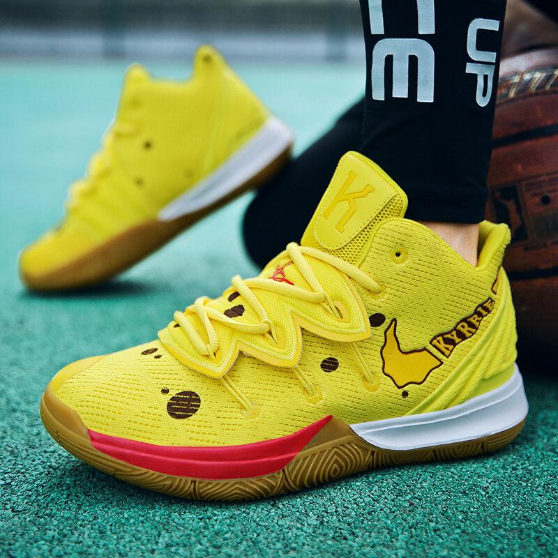 欧文5代海绵宝宝篮球鞋 运动跑步鞋 情侣款网布鞋
