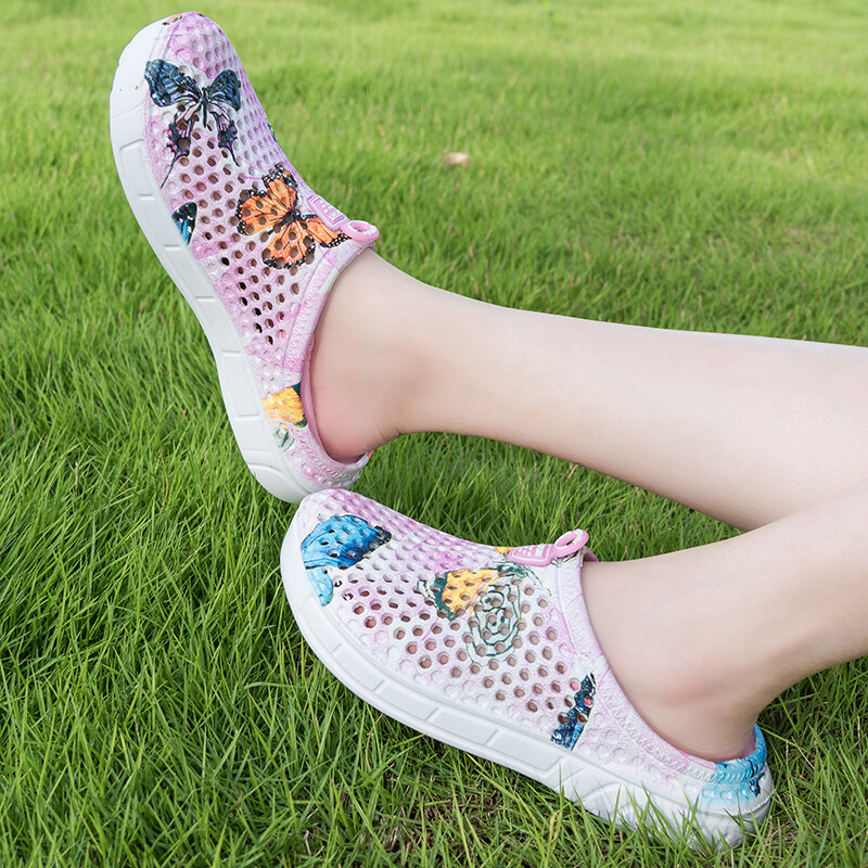 【四季有货】新款青花瓷拖鞋凉鞋女鞋沙滩鞋透气