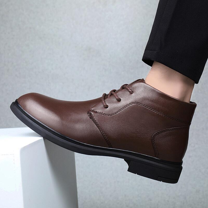 男鞋秋冬正装高帮皮鞋男英伦风真皮马丁靴商务休闲靴子