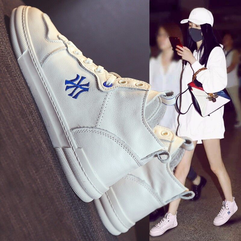 春季新品爆款中帮学生小白鞋 休闲女板鞋