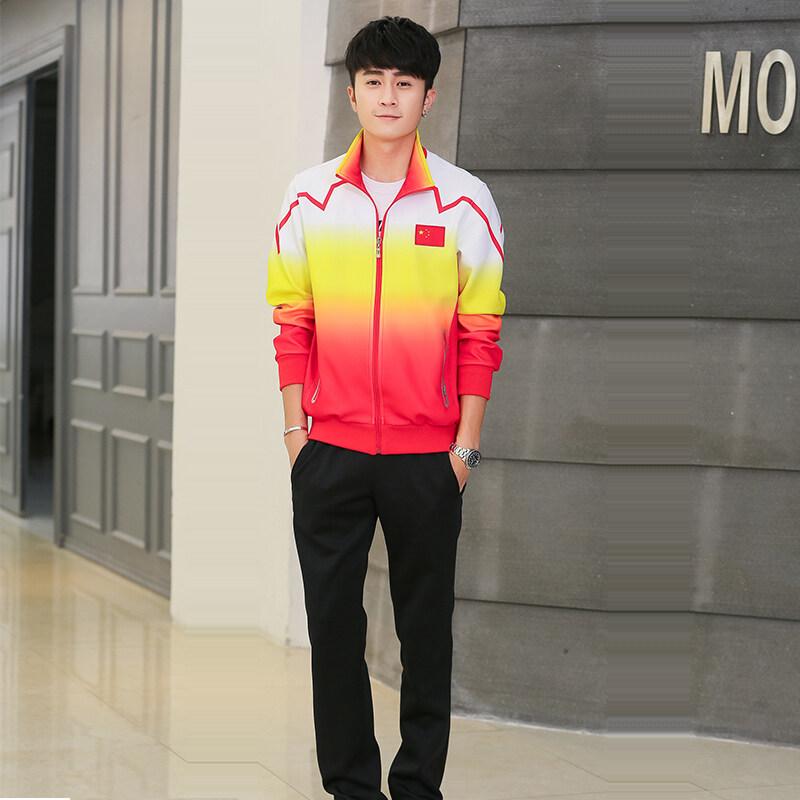 运动服女春季新款校服团体活动套装户外运动跑步装南韩丝定制lo
