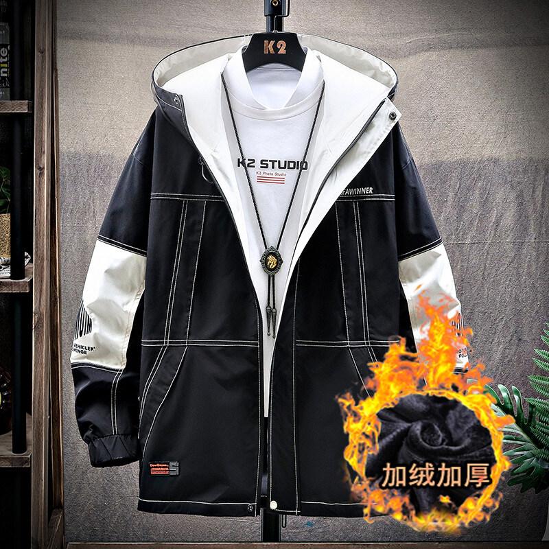 春季外套男士冬季2020新款春秋韩版潮流上衣服修身夹克男加绒