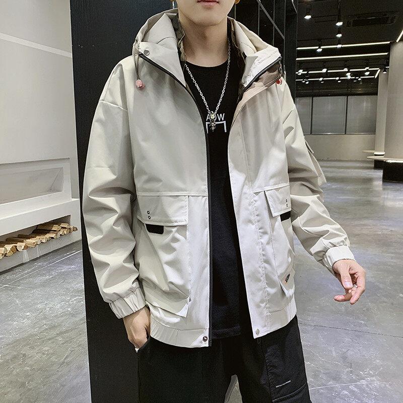 夹克男士2020春季新款男装服青少年卫衣帅气休闲外套潮流