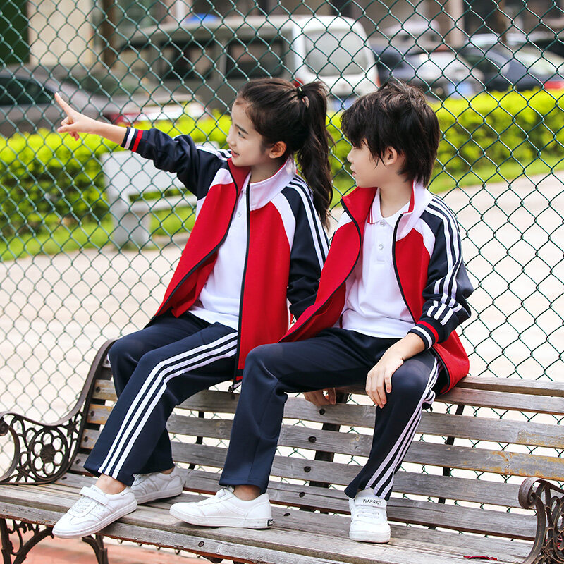 新款秋冬初中高中学生校服团体服小学生班服定做男女长袖运动套装