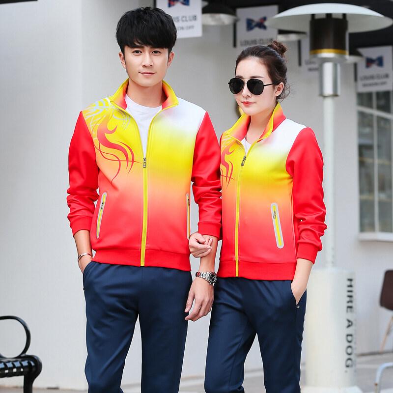 休闲运动套装男春秋运动服套装女跑步新款男士运动服装情侣装套装