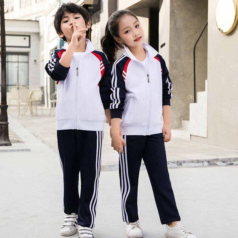 运动套装男春秋女中学生校服小学班服家庭装运动服定制印字亲子装