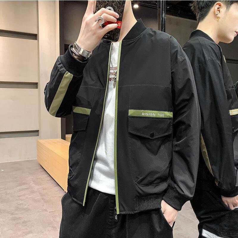 牧比斯夹克外套男2020冬季新款男装保暖棉衣跨境工装男士夹克1202