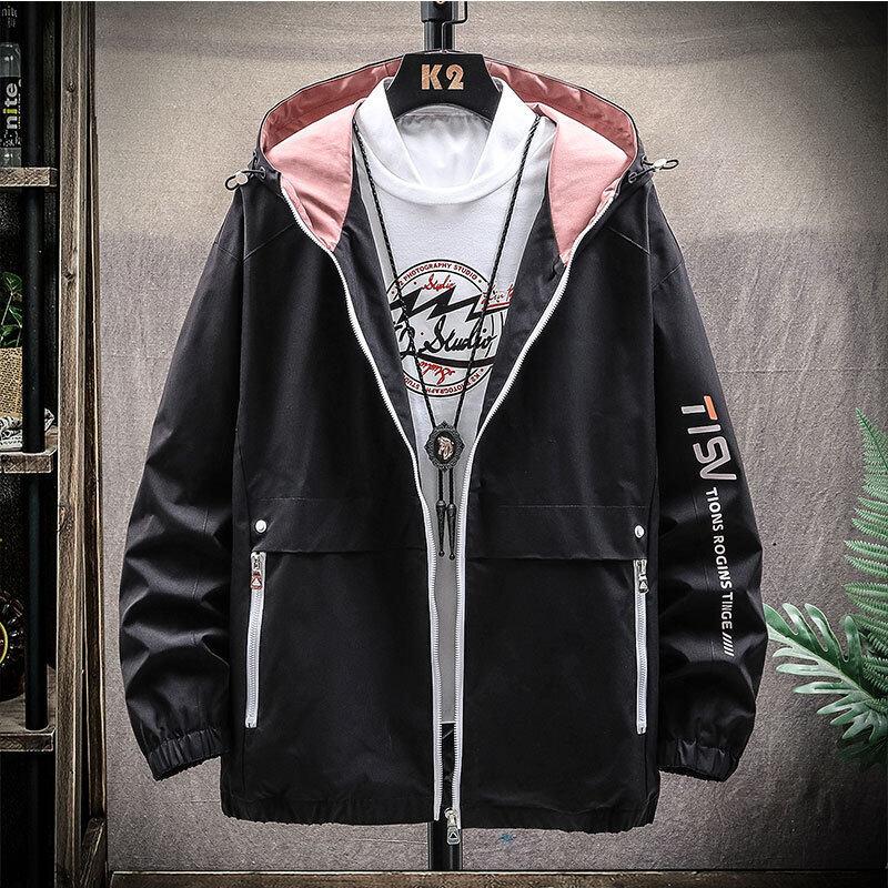 春秋男士夹克外套2020新款韩版潮流休闲夹克薄款青年纯色立领夹克