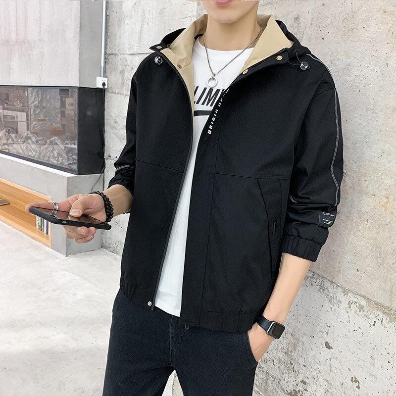 小额批发2020新款秋冬工装夹克外套男立领时尚衣服外衣男学生韩版