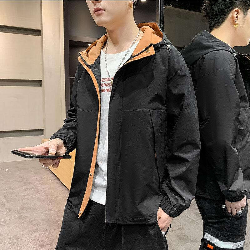 2020男士春秋外套夹克登山冲锋衣速干防风衣户外运动团体服可印字
