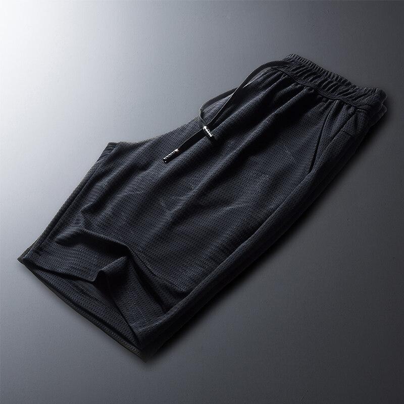 夏季冰丝网眼超薄速干五分裤男短裤 休闲裤男裤子男士短裤子男