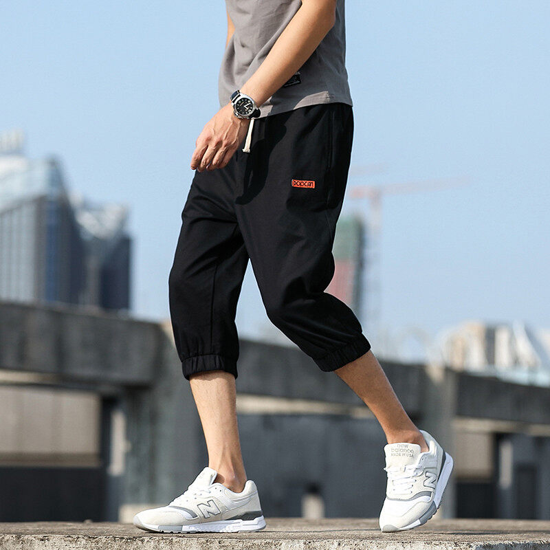 2020纯棉工装短裤男潮牌夏季修身休闲中裤男士工装五分裤潮