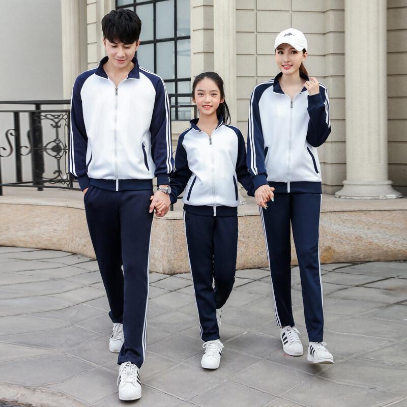 XG91055春季女士秋季新款运动套装男春秋季亲子跑步情侣运动棒球服