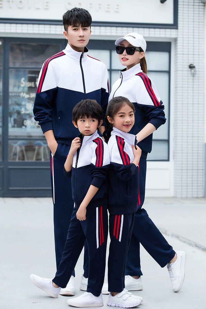 86918191819春秋新款运动套装男女春秋亲子装学生运动服校服团体服